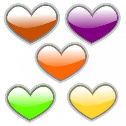 free vector Gloss Heart 3
