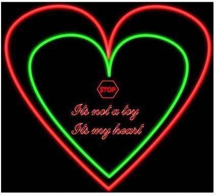 free vector Neon Heart