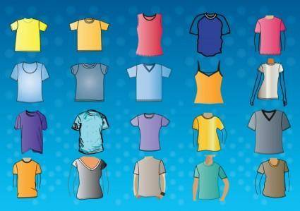 free vector T-Shirt Template Vectors
