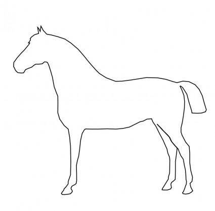 free vector Simple Horse