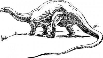 free vector Dinosaur - brontosaurus