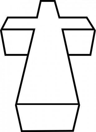 free vector 3D cross