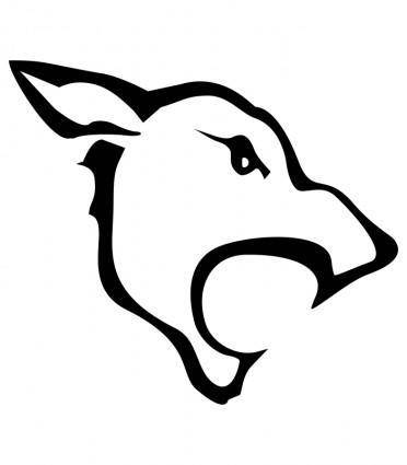 free vector Tatoo Wolf