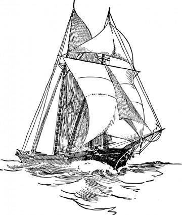 free vector Sailboat 5
