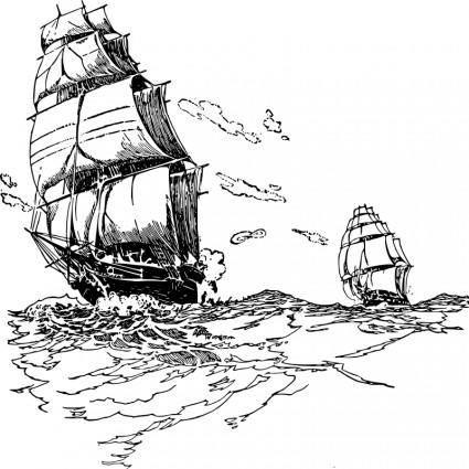 free vector Sailboat 4