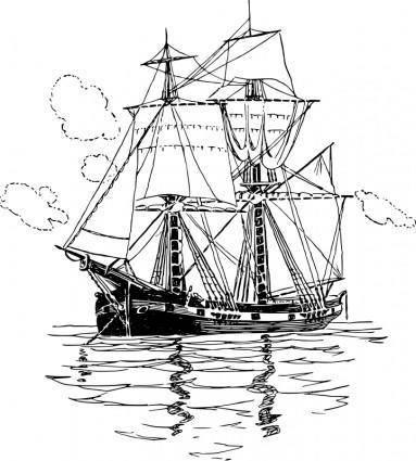 free vector Sailboat 1