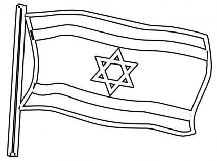Flag of Israel BW