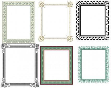 free vector Artistic Frames 2
