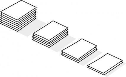 Piles of paper / piles de papier
