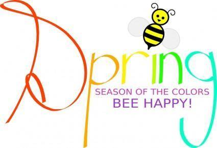 free vector Spring with bee