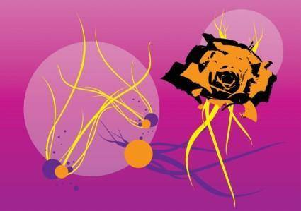 free vector Rose Swirls