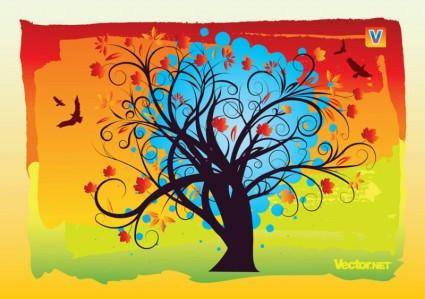 free vector Autumn Tree