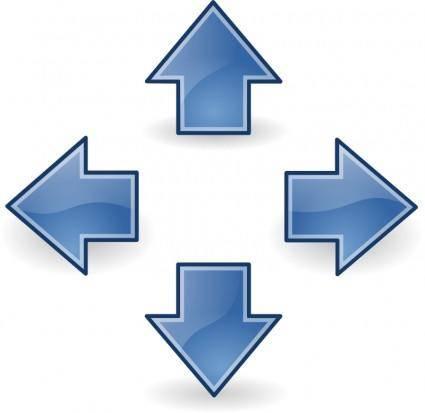 Tango style arrows blue