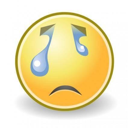 free vector Tango face crying