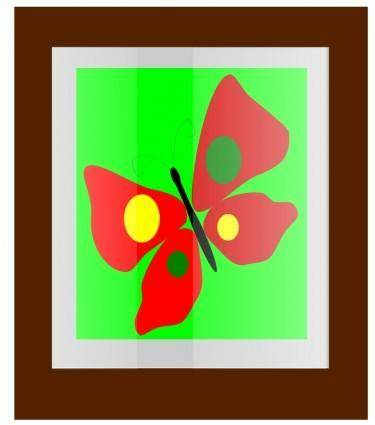 free vector Butterfly Frame