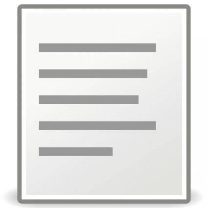 free vector Tango format justify left