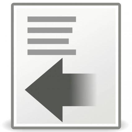 Tango format indent less