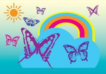 free vector Free Butterflies Vectors