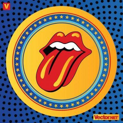 free vector Rolling Stones Lips Logo