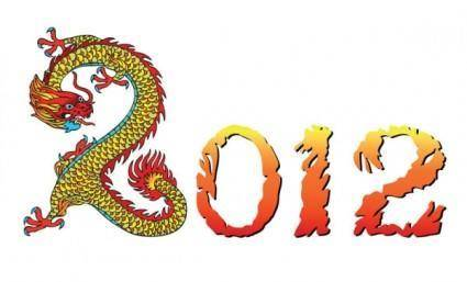2012 year of the dragon creative design 03 vector