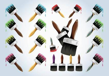 free vector Paint Brushes