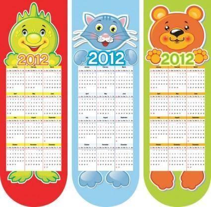 free vector Calendar 2012 calendar 02 vector