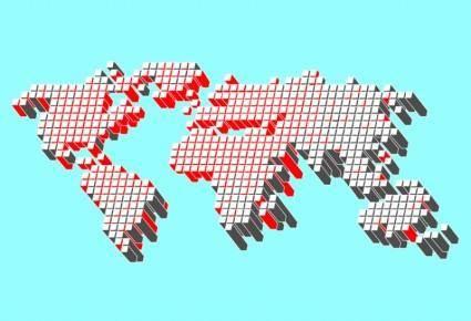 Free World Map Vector