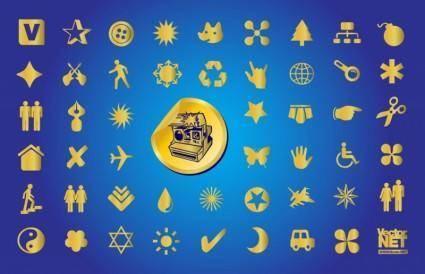 free vector Gold Symbols