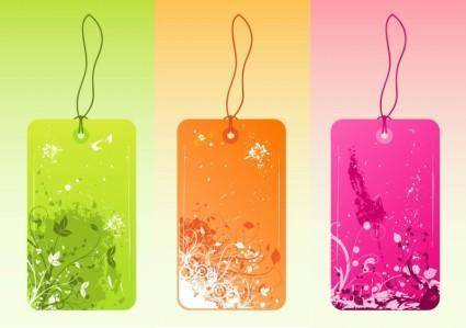 free vector Cool Grunge Tags