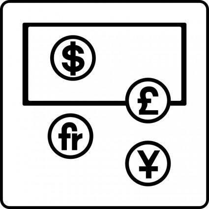 free vector Hotel Icon Has Money Exchange