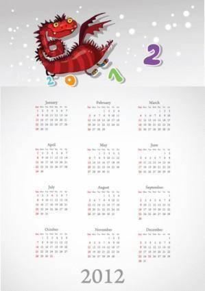 free vector Calendar 2012 calendar 05 vector