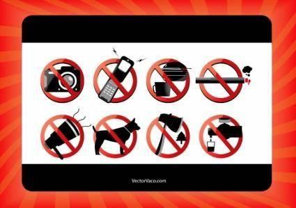 free vector Forbidden Signs