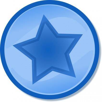 free vector Blue circled star