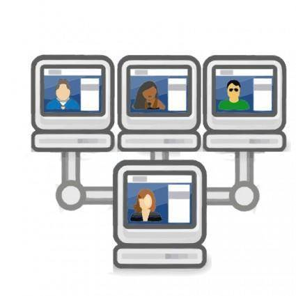 free vector Social network