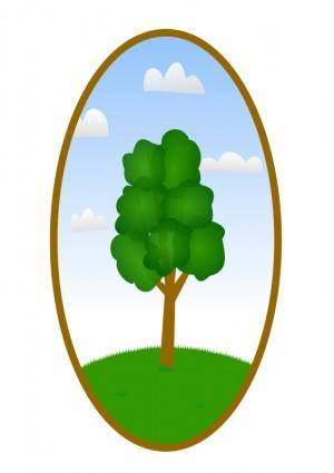 free vector Oval Tree Landscape 2