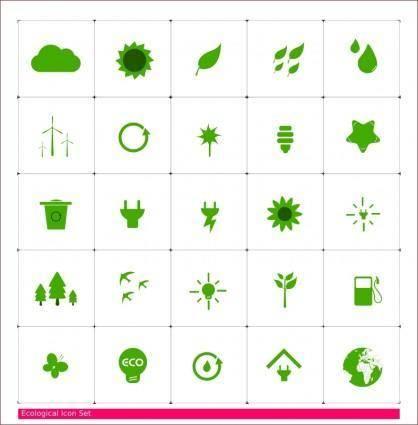 free vector Eco Icon Set