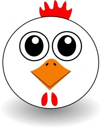 Funny Chicken Face Cartoon