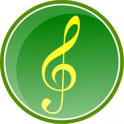 free vector Music Icon-Green-2