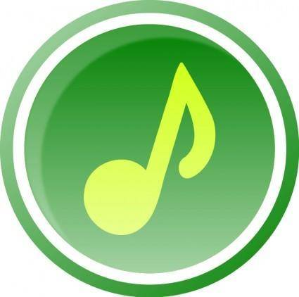free vector Music Icon-Green-1