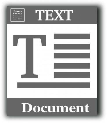 free vector Text file icon