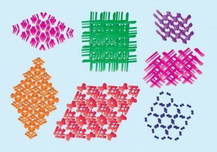 free vector 3D Vector Structures