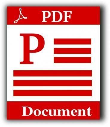 free vector PDF file icon