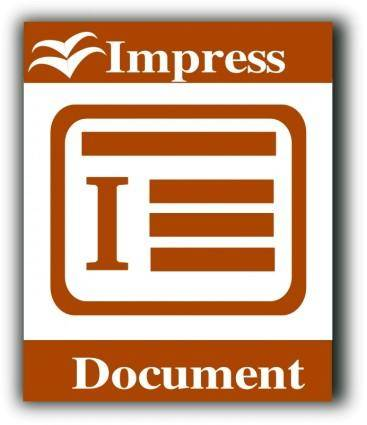 Libre Office impress icon