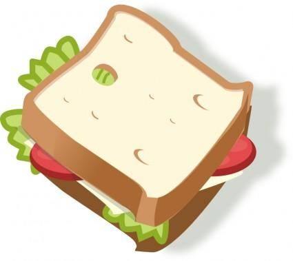 free vector Vegetarian sandwich