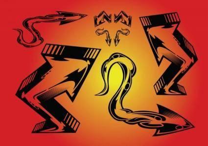 free vector Arrows Tattoo