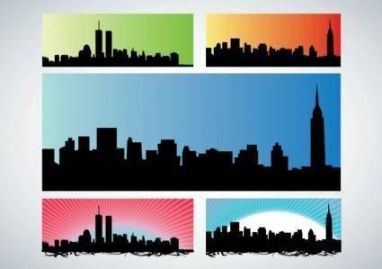 free vector NYC Skyline