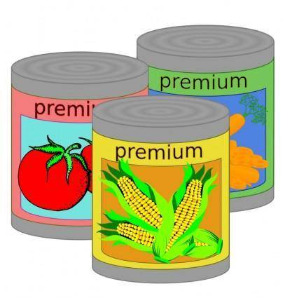 free vector Canned Goods