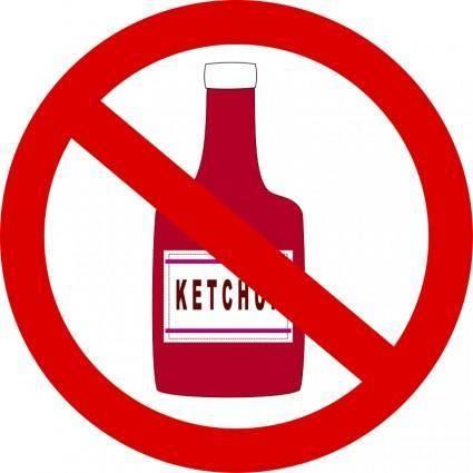 free vector Ketchup forbidden