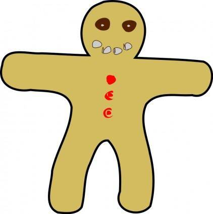 free vector Gingerbread Man