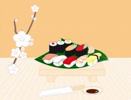 free vector Sushi